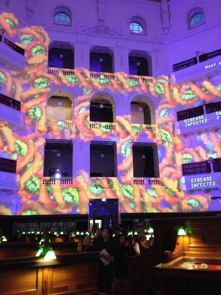 La Trobe Reading Room on White Night February 2014