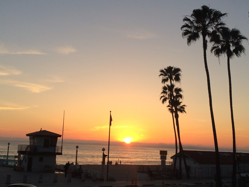Sunset over Manhattan Beach