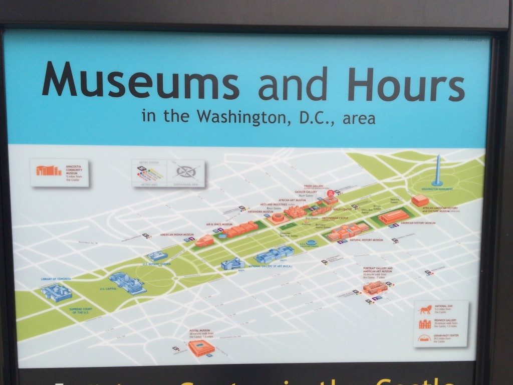 Museums and Hours in the Washington, D.C. area [detail]