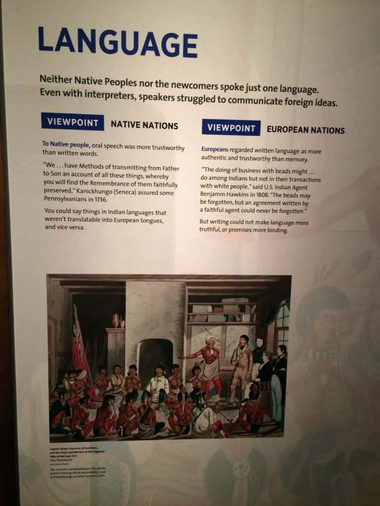 Wall text - National Museum of the American Indian